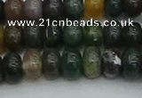 CRB2867 15.5 inches 6*10mm rondelle Indian agate beads
