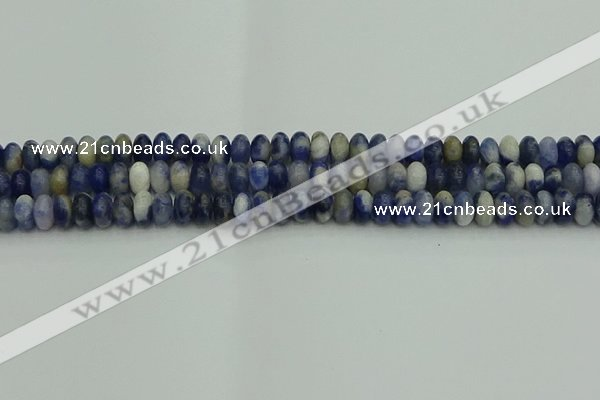 CRB2880 15.5 inches 4*6mm rondelle sodalite beads wholesale
