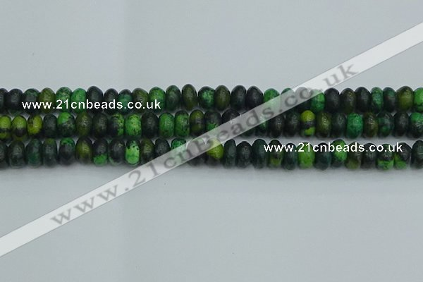 CRB2897 15.5 inches 6*10mm rondelle chrysocolla beads wholesale