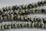 CRB30 15.5 inches 3*6mm rondelle dalmatian gemstone beads