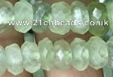 CRB3015 15.5 inches 5*9mm faceted rondelle prehnite beads