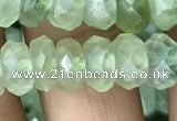 CRB3016 15.5 inches 6*10mm faceted rondelle prehnite beads