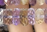 CRB3021 15.5 inches 6*11mm faceted rondelle ametrine beads