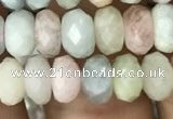 CRB3026 15.5 inches 5*7mm faceted rondelle morganite beads
