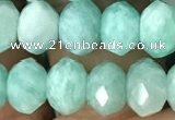 CRB3072 15.5 inches 5*8mm faceted rondelle amazonite gemstone beads