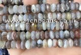CRB3075 15.5 inches 5*10mm faceted rondelle Botswana agate beads