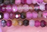 CRB3108 15.5 inches 2*3mm faceted rondelle tiny tourmaline beads