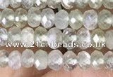 CRB3150 15.5 inches 2.5*4mm faceted rondelle tiny prehnite beads