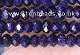 CRB3164 15.5 inches 2.5*4mm faceted rondelle tiny blue goldstone beads