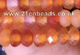 CRB3170 15.5 inches 2.5*4mm faceted rondelle tiny red agate beads