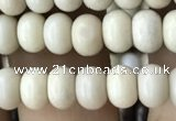 CRB4050 15.5 inches 4*6mm rondelle white fossil jasper beads wholesale