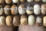 CRB4051 15.5 inches 4*6mm rondelle picture jasper beads wholesale