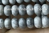 CRB4052 15.5 inches 4*6mm rondelle grey picture jasper beads wholesale
