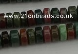 CRB415 15.5 inches 5*8mm rondelle Indian agate beads wholesale