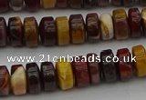 CRB433 15.5 inches 5*8mm rondelle mookaite gemstone beads