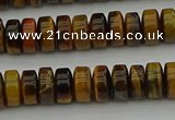 CRB435 15.5 inches 5*8mm rondelle yellow tiger eye beads