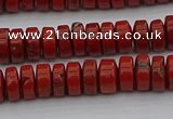 CRB438 15.5 inches 5*8mm rondelle red jasper beads wholesale