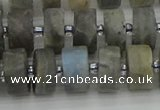 CRB485 15.5 inches 8*14mm tyre labradorite gemstone beads