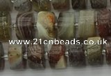 CRB488 15.5 inches 6*10mm tyre matte botswana agate beads wholesale