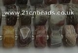 CRB489 15.5 inches 6*12mm tyre matte botswana agate beads wholesale