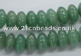 CRB50 15.5 inches 6*12mm rondelle green aventurine jade beads