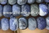 CRB5006 15.5 inches 4*6mm rondelle matte sodalite beads wholesale