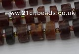 CRB505 15.5 inches 5*8mm tyre orange garnet beads wholesale