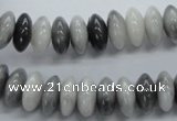 CRB51 15.5 inches 6*12mm rondelle eagle&#39s eye gemstone beads