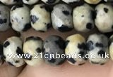 CRB5109 15.5 inches 4*6mm faceted rondelle dalmatian jasper beads