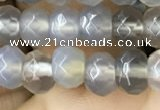 CRB5112 15.5 inches 4*6mm faceted rondelle grey agate beads