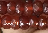 CRB5114 15.5 inches 4*6mm faceted rondelle red agate beads