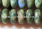 CRB5347 15.5 inches 5*8mm rondelle rhyolite beads wholesale