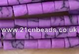 CRB5525 15 inches 2*2mm heishi synthetic turquoise beads wholesale