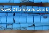 CRB5529 15 inches 2*2mm heishi synthetic turquoise beads wholesale