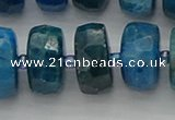 CRB593 15.5 inches 8*18mm faceted rondelle apatite beads