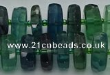 CRB618 15.5 inches 8*18mm faceted rondelle fluorite beads