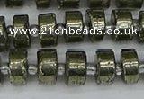 CRB625 15.5 inches 6*10mm tyre pyrite gemstone beads