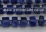 CRB638 15.5 inches 5*8mm tyre sodalite gemstone beads