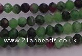 CRB702 15.5 inches 2.5*3mm faceted rondelle ruby zoisite beads