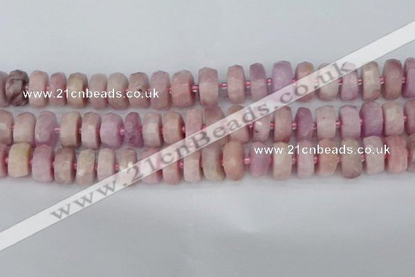 CRB829 15.5 inches 8*16mm faceted rondelle kunzite beads