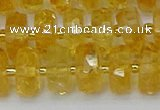 CRB844 15.5 inches 8*14mm faceted rondelle citrine beads