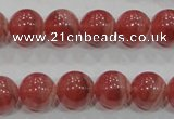 CRC104 15.5 inches 12mm round natural argentina rhodochrosite beads
