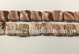 CRC1095 15.5 inches 25*25mm square rhodochrosite beads wholesale