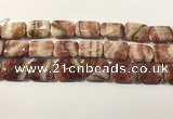 CRC1102 15.5 inches 18*25mm rectangle rhodochrosite beads