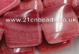 CRC15 16 inches 30*30mm square rhodochrosite beads wholesale