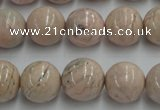 CRC155 15.5 inches 14mm round Argentina rhodochrosite beads