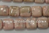 CRC302 15.5 inches 12*12mm square Peru rhodochrosite beads