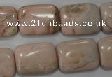 CRC306 15.5 inches 15*20mm rectangle Peru rhodochrosite beads