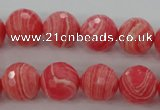 CRC404 15.5 inches 12mm faceted round synthetic rhodochrosite beads