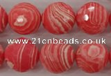 CRC406 15.5 inches 16mm faceted round synthetic rhodochrosite beads
